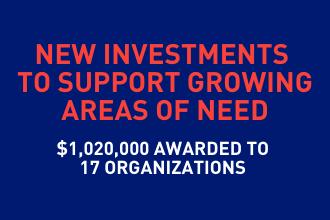 New Investments to Support Growing Areas of Need