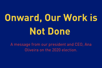 Onward, Our Work is Not Done